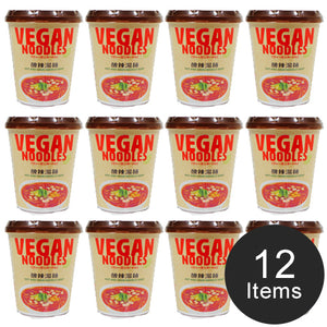[FREE Shipping] NewTouch Ts VEGAN Noodles Hot and sour noodle soup 66g×12 items(1box) ニュータッチ Tsヴィーガンヌードル酸辣湯麺 66g ×12個(1ケース)