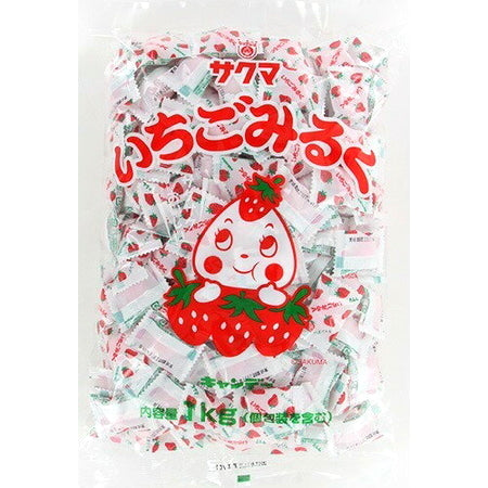 SAKUMA strawberry milk  Candy Bag 1kg サクマ いちごみるくピロー 1kg