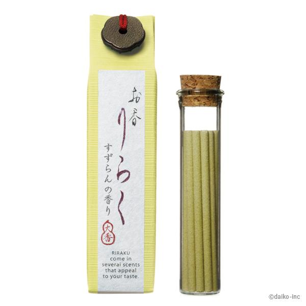 "Japanese Incense ""Suzuran"" lily of the valley 80mm×15pieces	 お香りらく すずらん"