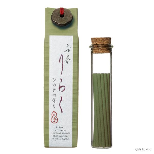 "Japanese Incense ""Hinoki"" Japanese cypress 80mm×15pieces	 お香りらく ひのき"