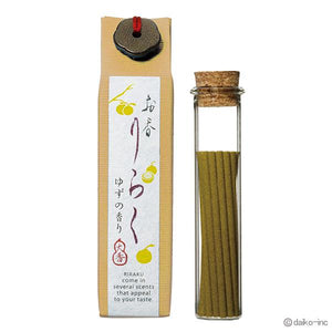 "Japanese Incense ""Yuzu"" Yuzu 80mm×15pieces お香りらく ゆず"