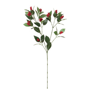 Sarcandra glabra RED 55cm [Artificial Flower] 早春千両 小 赤(アーティフィシャルフラワー)