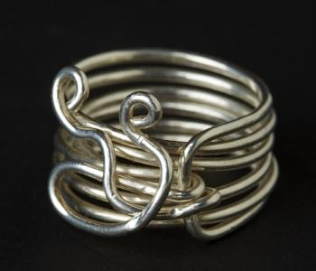 Six Band Sterling Silver Ring