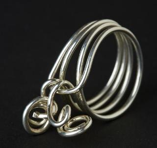 Sterling silver sculptural ring