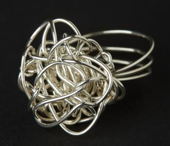 Woven Chaos Sterling Silver Ring