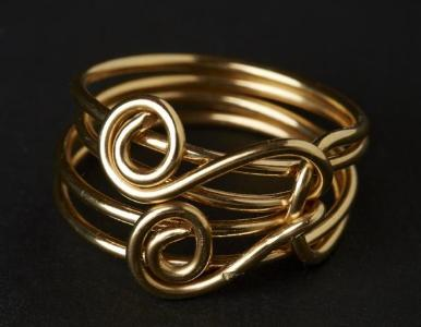 Double Spiral 14k Gold Filled Ring