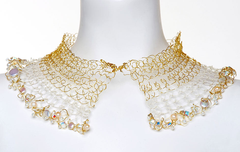 Gold and White Split Necklace