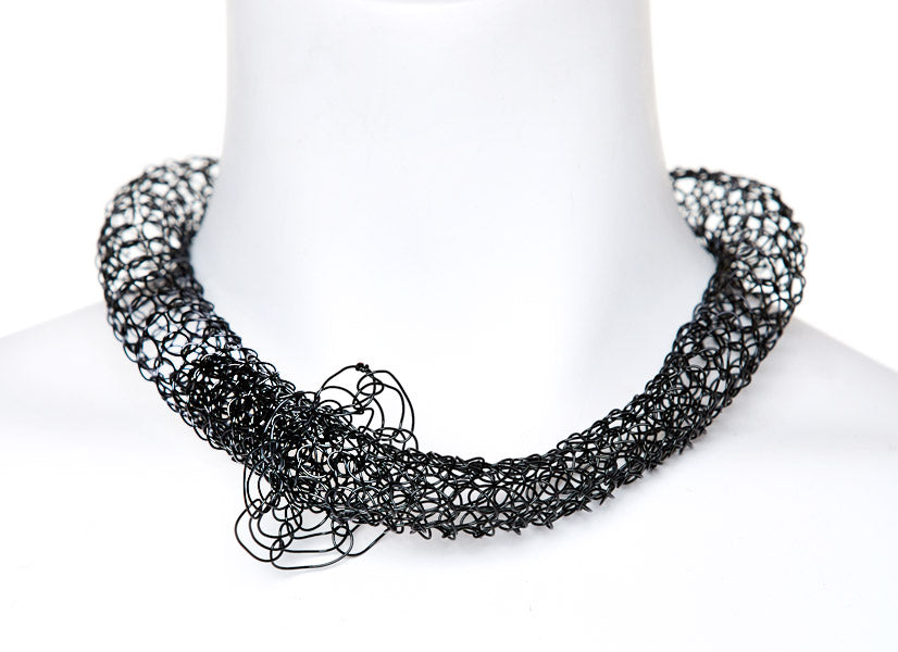 Black Tubular Necklace