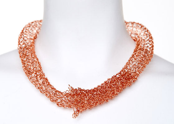 Copper Tubular Necklace