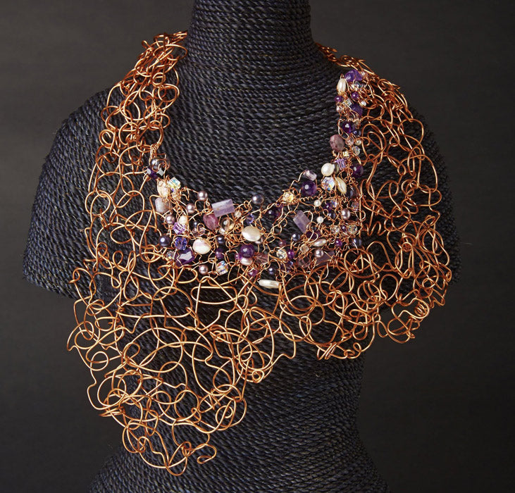 Purple and Copper Neckpiece