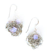 Sterling Silver Ball Earrings w/Swarovski Crystals