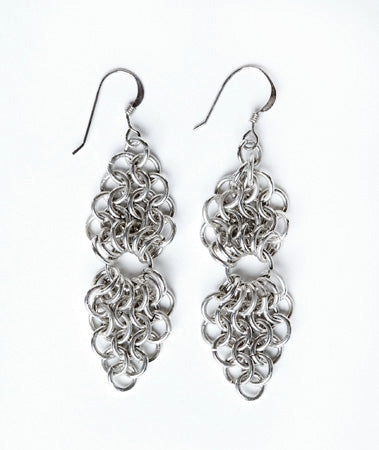 Sterling Silver Chain Maille Earrings