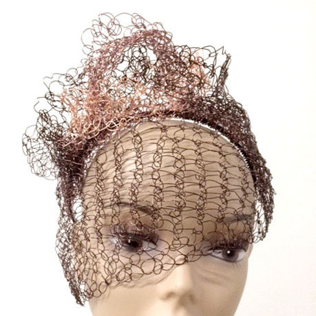 Bronze and Copper Fascinator