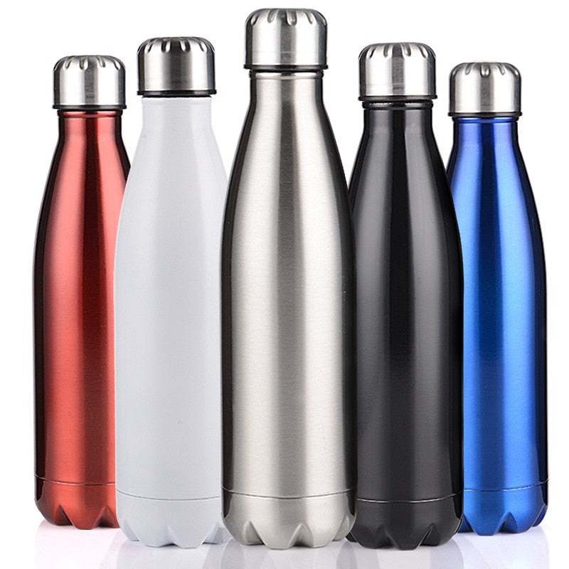 350/500/750/1000ml Double-Wall Insulated Vacuum Flask Stainless Steel