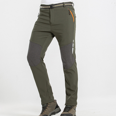 Men's thick warm and windproof rainproof hiking pants