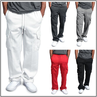 Casual Pocket Loose Straight Pant