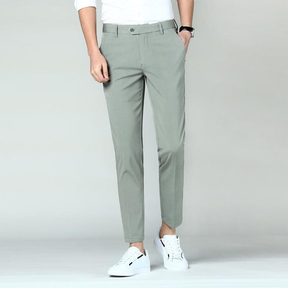 BossWears Business casual pants elastic slim pants