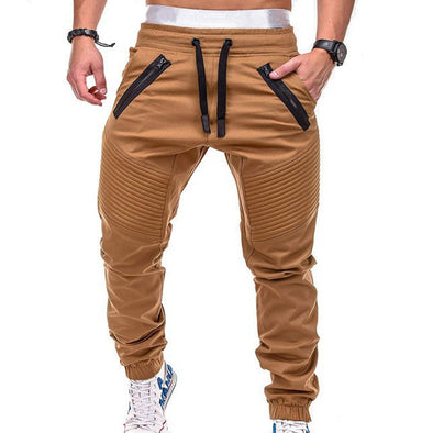 Drawstring Sports Zipper Casual Pant
