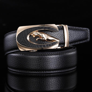 Men's Genuine Leather Automatic Buckle Belt-8