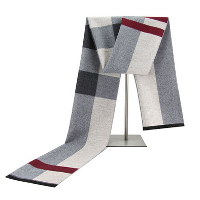 Men's winter warm cashmere scarf 232