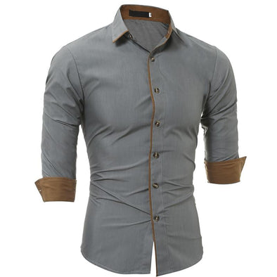 Fashion Slim Dress Shirts 002