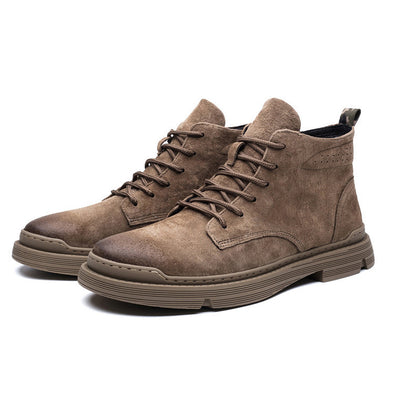 High-Top Men'S Leather Boots