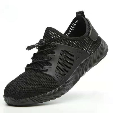 Large Mesh Anti-Smashing And Stab-Resistant Safety Shoes
