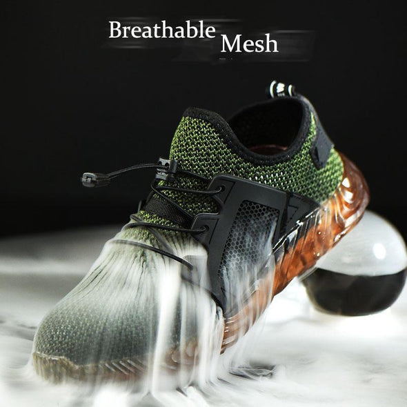 Work safety net anti-skid protective shoes