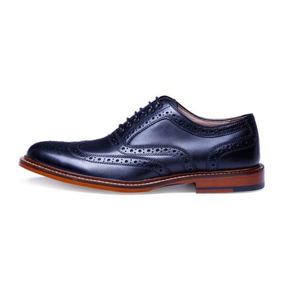 BossWears Full Leather British Style Brogue Shoes