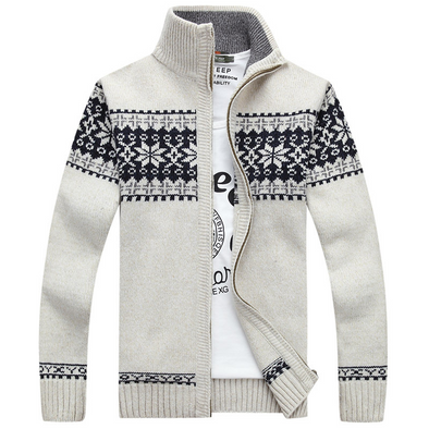 Jacquard knitted casual coat 208
