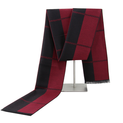 Men's winter warm cashmere scarf 221