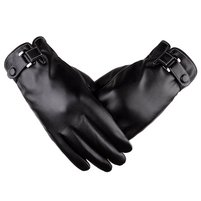 Men's touch screen simulation washed leather gloves 201