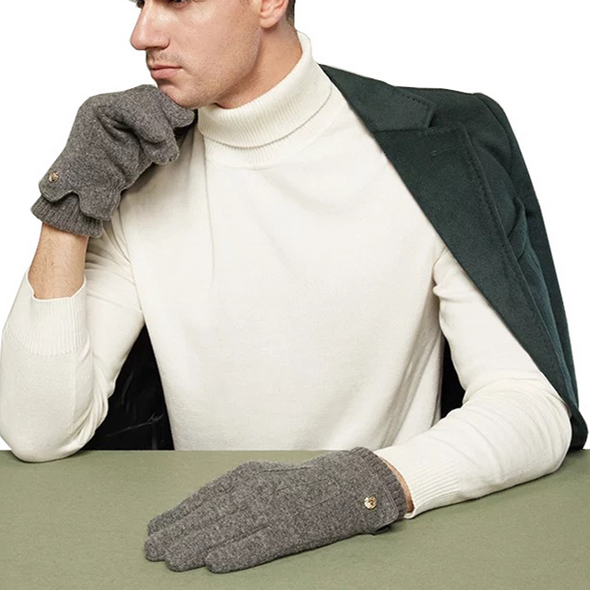 Men's cashmere gloves 205