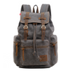 Men's Vintage Canvas Shoulder Computer Backpack 400