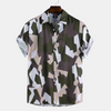 Men Printed Simple Style Summer Casual Short Sleeve