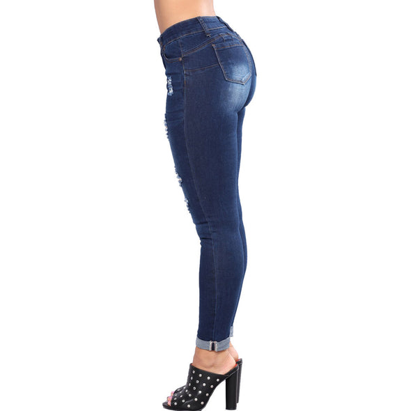 Slim Hole Denim Jeans