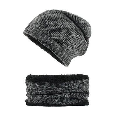 Winter Thick Knitted Hat Scarf