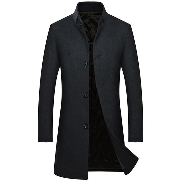 Men's Thick Wool Overcoat 002