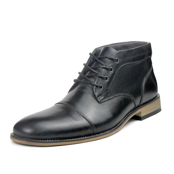 STEVE MADDEN Men's Cap Toe Dress Boots