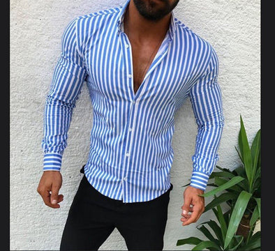 Men's striped Colorful shirt