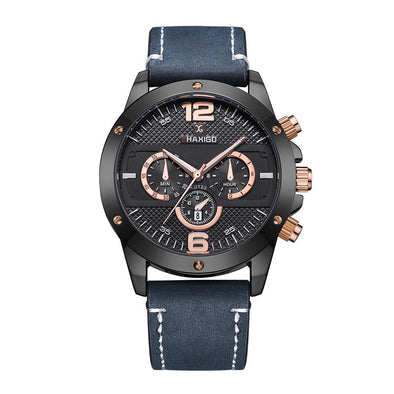 Casual Leather Waterproof Watch