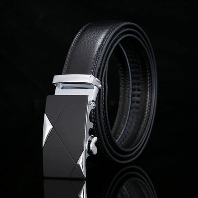Men's Genuine Leather Automatic Buckle Belt-6