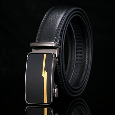 Men's Genuine Leather Automatic Buckle Belt-9