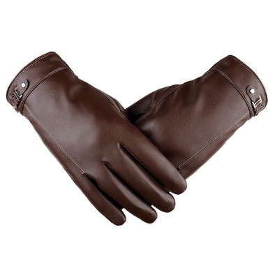Men's touch screen simulation washed leather gloves 202
