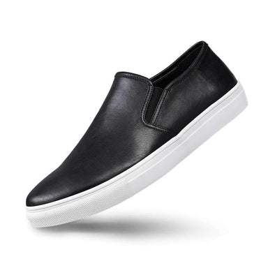 Mens Slip On Sneakers Leather Fashionable for Casual Events