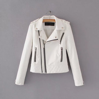 Women's Leather Jacket With Zipper