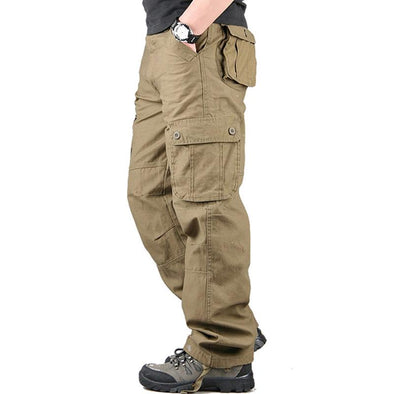 Multi-Bag Loose Straight Outdoor Casual Pants