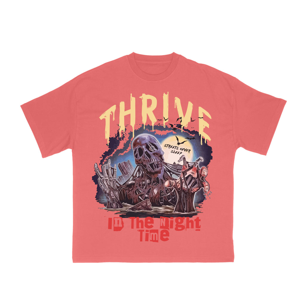 Vintage Thrive Graphic T-Shirt - Rose