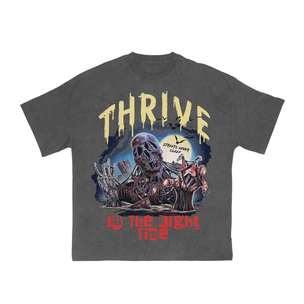 Vintage Thrive Graphic T-Shirt - Acid Grey