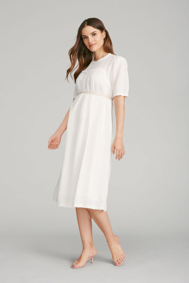 Layered Pleat Front Dress
